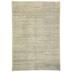 New Contemporary Moroccan Area Rug with Minimalist Organic Modern Style
