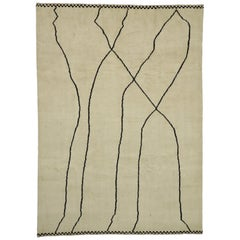 New Contemporary Moroccan Area Rug with Minimalist Style
