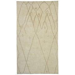 New Contemporary Moroccan Area Rug with Nomadic and Minimalist Style