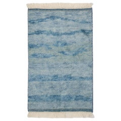 New Contemporary Moroccan Beach Rug with Modern Coastal Style