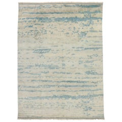 New Contemporary Moroccan Beach Style Rug with Transitional Coastal Design