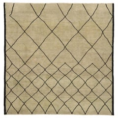 New Contemporary Moroccan Design Rug with Mid-Century Modern Style