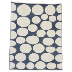 New Contemporary Moroccan Polka Dot Orphism Style Rug Inspired by Yayoi Kusama