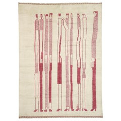 New Contemporary Moroccan Rug Inspired by Alberto Giacometti Dogon Tribe