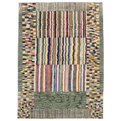 New Contemporary Moroccan Rug Inspired by Ettore Sottsass with Postmodern Style