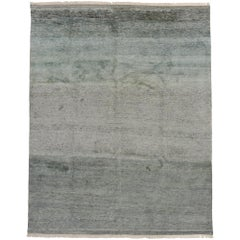 New Contemporary Moroccan Rug with Coastal Color Field Style