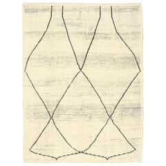 New Contemporary Moroccan Rug with International Minimalist Style
