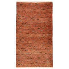New Contemporary Moroccan Rug with Mediterranean Modern Style and Warm Colors