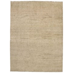 New Contemporary Moroccan Rug with Minimalist Swedish Mysigt Style