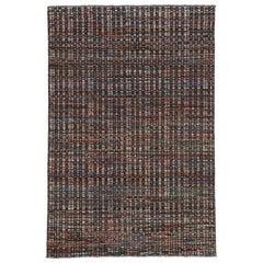 Contemporary Moroccan Rug with Modern American Colonial Style