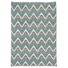 New Contemporary Moroccan Rug with Retro Postmodern Style