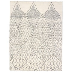 New Contemporary Moroccan Rug with Scandinavian Mys Bohemian Style