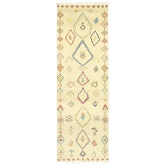 New Contemporary Moroccan Shag Hallway Runner with Bohemian Tribal Style