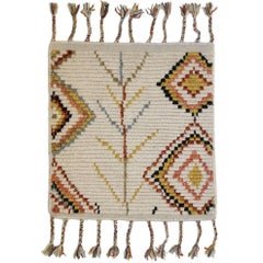 New Contemporary Moroccan Style Accent Rug with Tribal Design