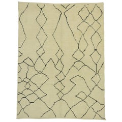 New Contemporary Moroccan Style Rug with Abstract Diamond Pattern