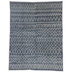 New Contemporary Moroccan Style Rug with Diamond Pattern and Chevron Design