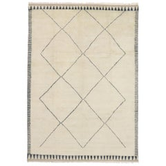 New Contemporary Moroccan Style Rug with Minimalist Mid-Century Modern Design