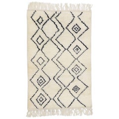 New Contemporary Moroccan Style Rug with Minimalist Tribal Vibes