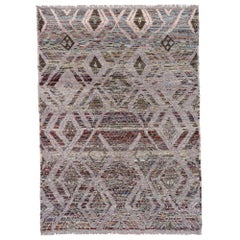 New Contemporary Moroccan Style Rug with Mysigt Swedish Style