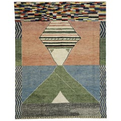 Contemporary Moroccan Style Rug with Postmodern Memphis Style