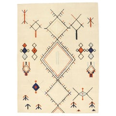 New Contemporary Moroccan Style Souf Rug with Ski Chalet Mountain Cabin Style