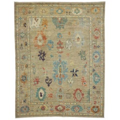 New Contemporary Oushak Area Rug with Transitional Style