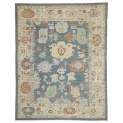 New Contemporary Oushak Design Transitional Area Rug with Modern Style