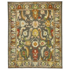 New Contemporary Oushak Souf Rug with Modern Style, Kilim Texture Area Rug