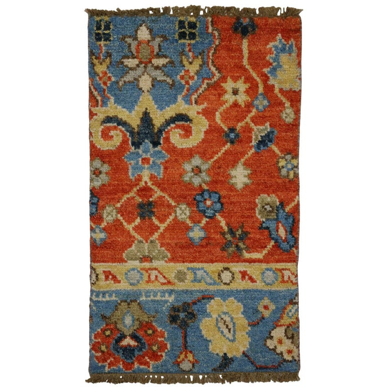 Contemporary Foyer Rugs : New contemporary oushak style accent rug entry or foyer