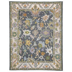 New Contemporary Oushak Style Rug with Modern Colors