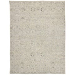 New Contemporary Oushak Style Rug with Modern Rustic Industrial Style