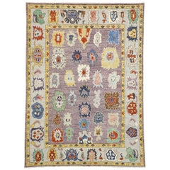 New Contemporary Oushak Style Rug with Postmodern Style