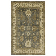 New Contemporary Oushak Style Rug with Transitional Design