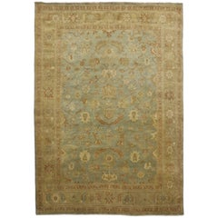 New Contemporary Oushak Rug with Transitional Style