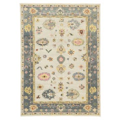 New Contemporary Oushak Transitional Area Rug, Vintage Inspired Area Rug