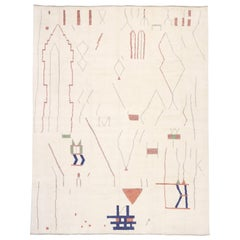 New Contemporary Oversized Moroccan Rug with Brutalist