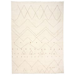 New Contemporary Oversized Moroccan Style Rug with Minimalist Tribal Vibes