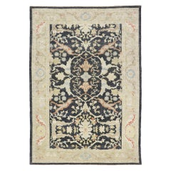 New Contemporary Persian Sultanabad Rug with Modern Parisian Style