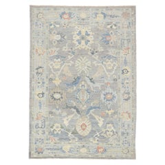New Contemporary Persian Sultanabad Rug with Modern Transitional Coastal Style