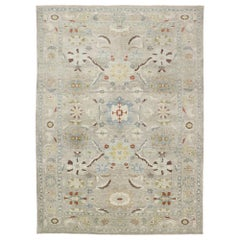 New Contemporary Persian Sultanabad Rug with Modern Transitional Style