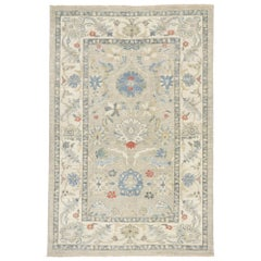 New Contemporary Persian Sultanabad Rug with Transitional Modern Style