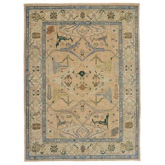New Contemporary Turkish Oushak Rug with Arts & Crafts Style