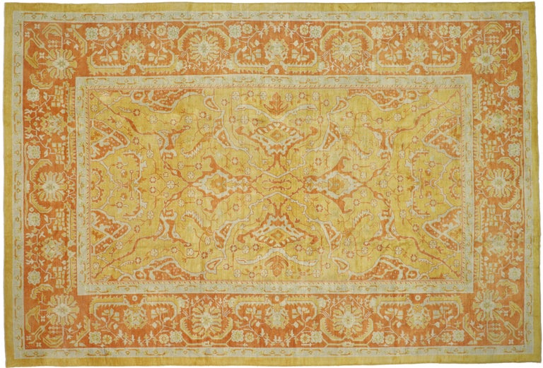 New Contemporary Turkish Oushak Rug With Expressionist