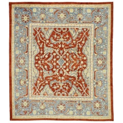 New Contemporary Turkish Oushak Rug with Modern American Colonial Federal Style