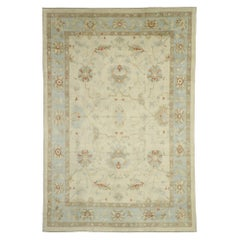 New Contemporary Turkish Oushak Rug with Modern Coastal Style