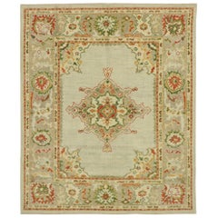 New Contemporary Turkish Oushak Rug with Modern Eclectic Craftsman Style