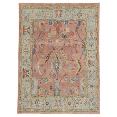 New Contemporary Turkish Oushak Rug with Modern Spanish Colonial Style
