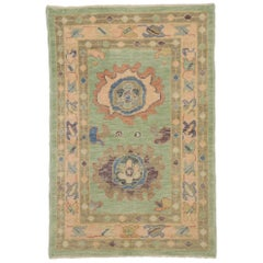 New Contemporary Turkish Oushak Rug with Modern Style and Pastel Colors