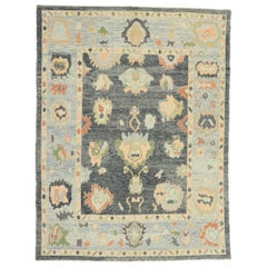New Contemporary Turkish Oushak Rug with Modern Style