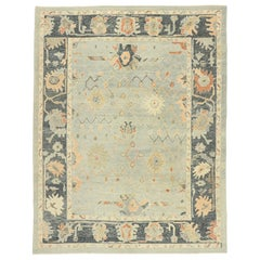 New Contemporary Turkish Oushak Rug with Modern Transitional Style